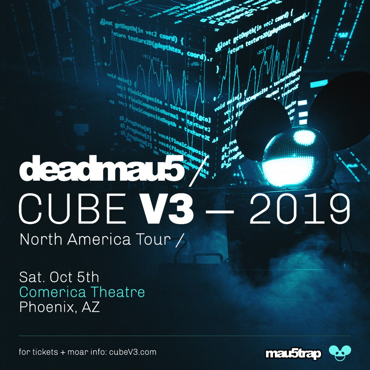 Flyer for deadmau5 - Cube V3