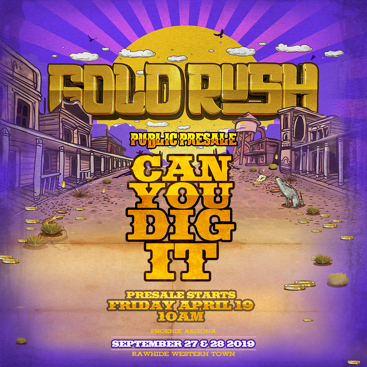 Flyer for Goldrush 2019