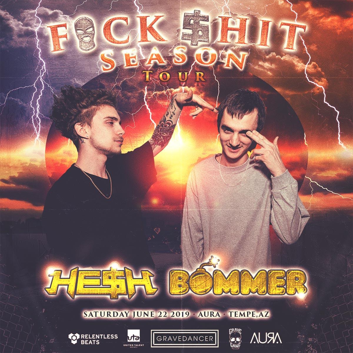 Flyer for HE$H & Bommer
