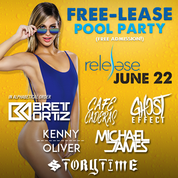 Flyer for Release Pool Party - Local Day