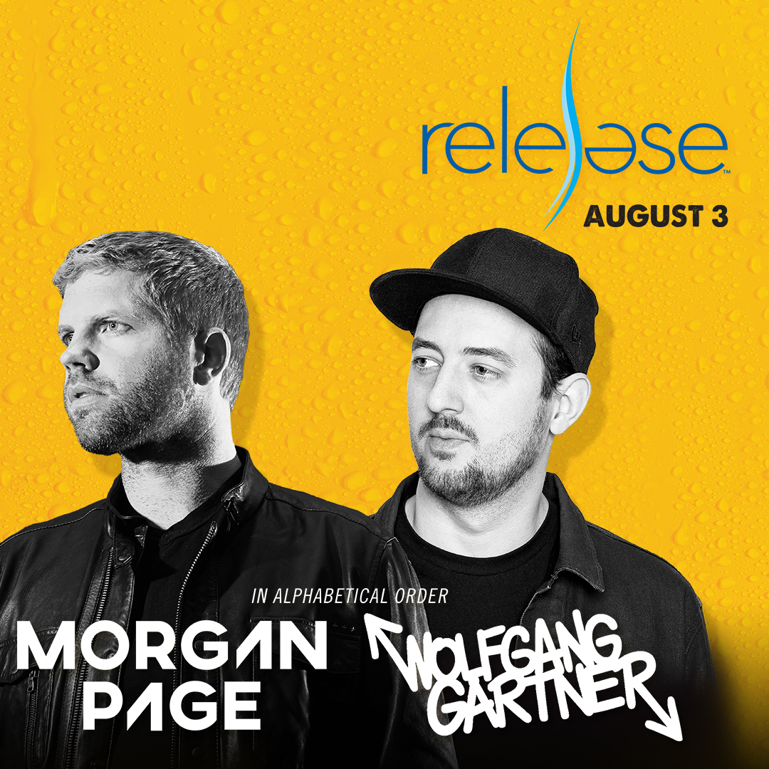 Flyer for Morgan Page + Wolfgang Gartner