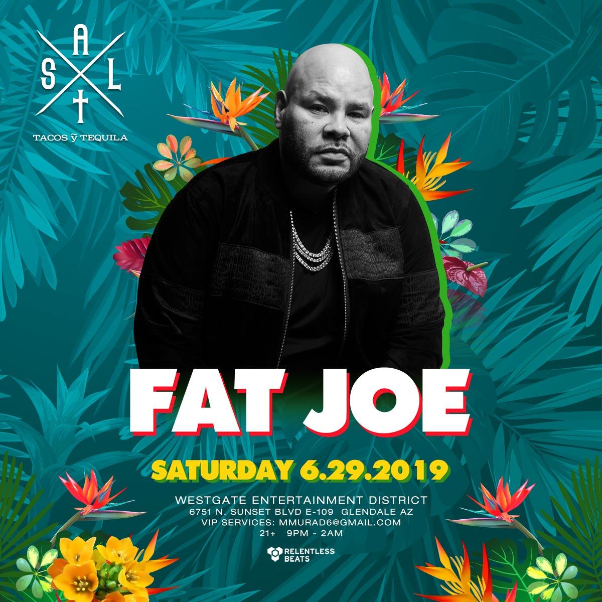 Flyer for Fat Joe