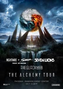 Alchemy Tour: NGHTMRE + Slander, Seven Lions, The Glitch Mob on 10/13/19