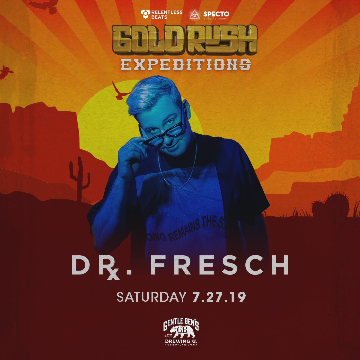 Flyer for Dr Fresch - Goldrush Expeditions