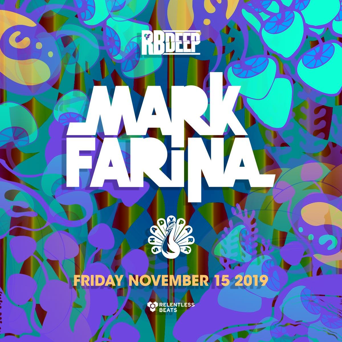 Flyer for Mark Farina