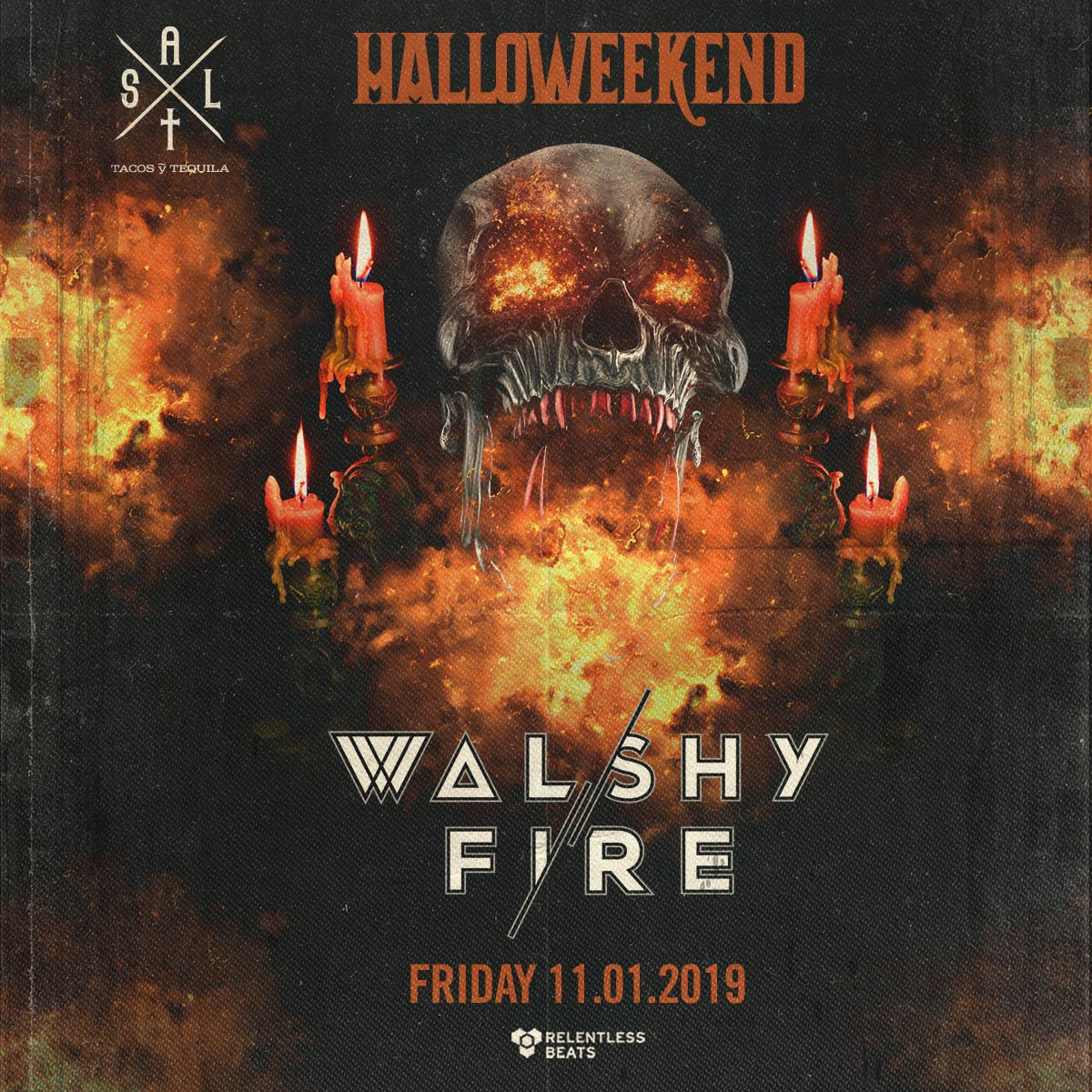 Flyer for Walshy Fire