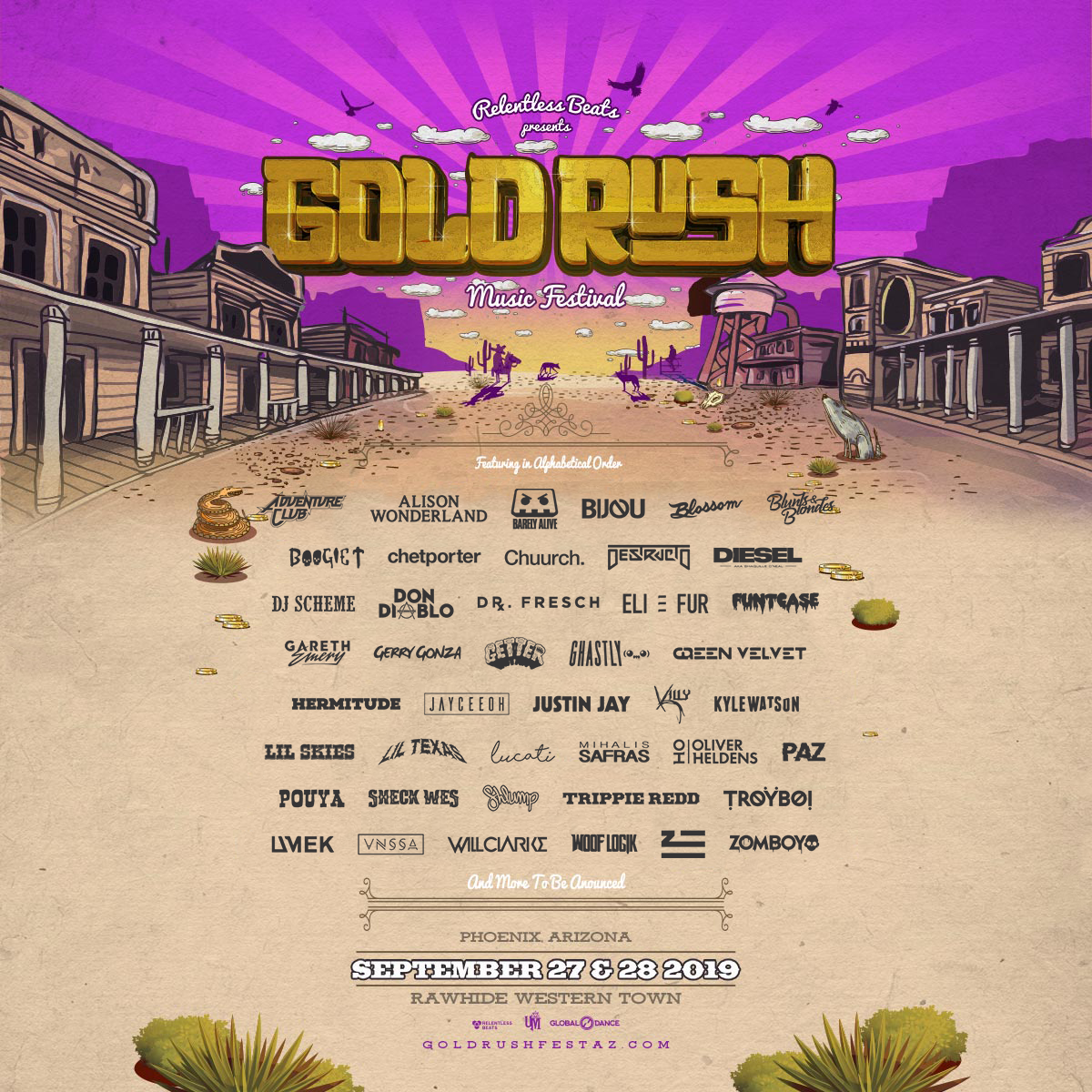 Goldrush 2019 Chandler Tickets - 09/27/19 - Rawhide Western