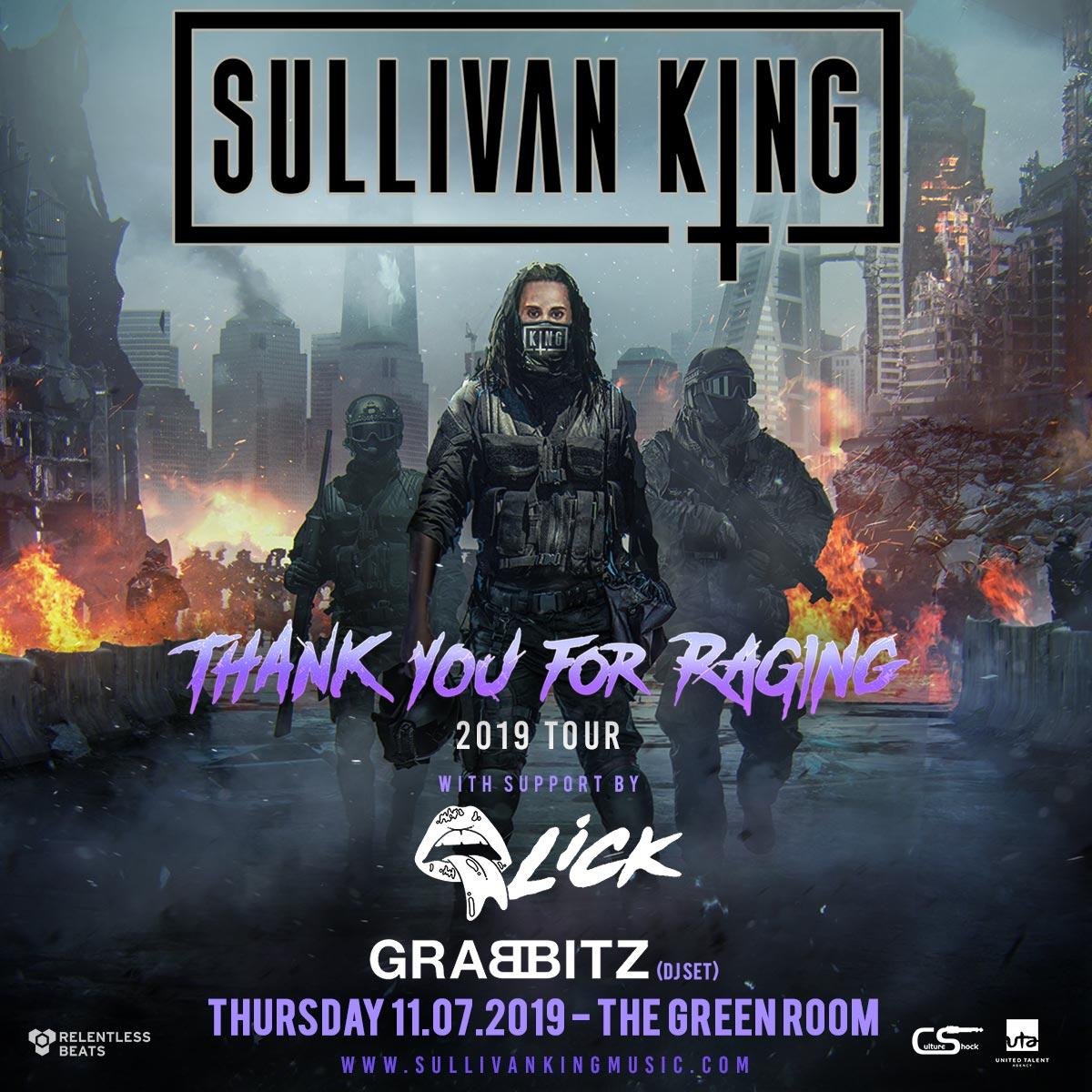 Flyer for Sullivan King
