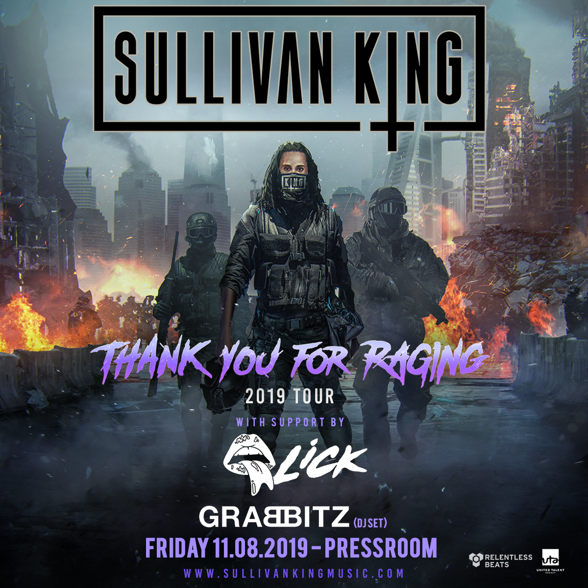 Flyer for Sullivan King