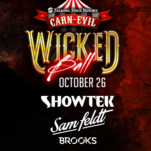 Flyer for Wicked Ball ft. Showtek, Sam Feldt, & Brooks