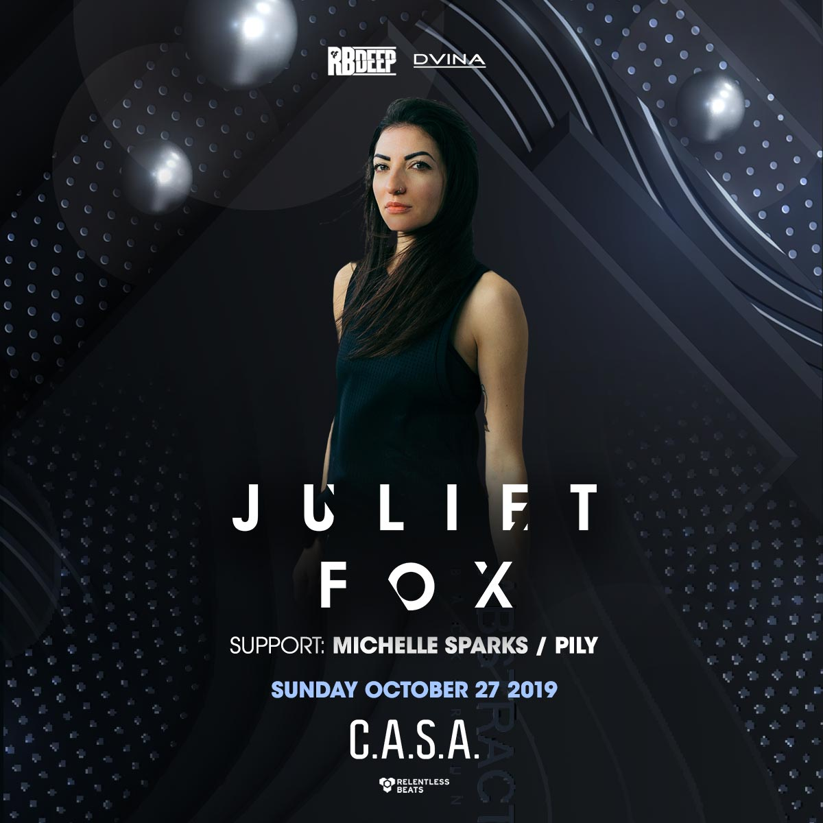 Flyer for Juliet Fox