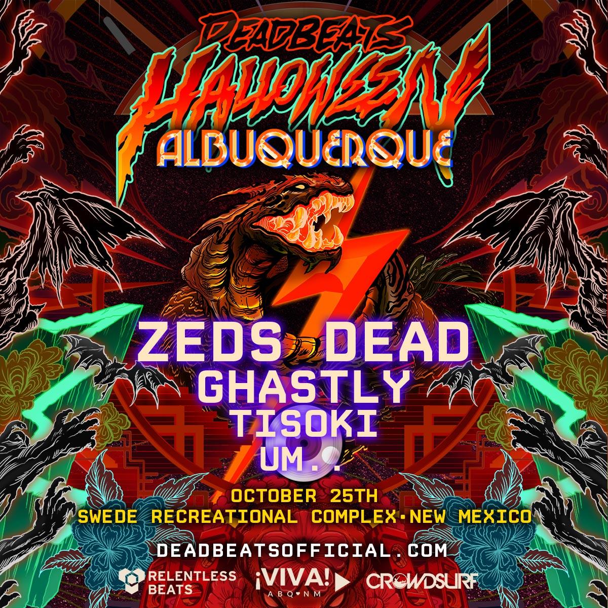 Flyer for Deadbeats Halloween - Albuquerque