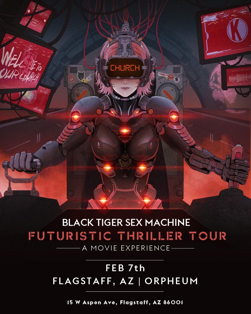 Flyer for Black Tiger Sex Machine