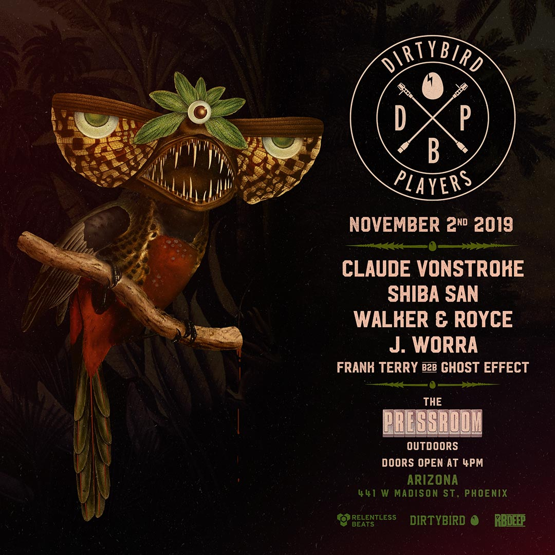 Flyer for Dirtybird Players - Arizona