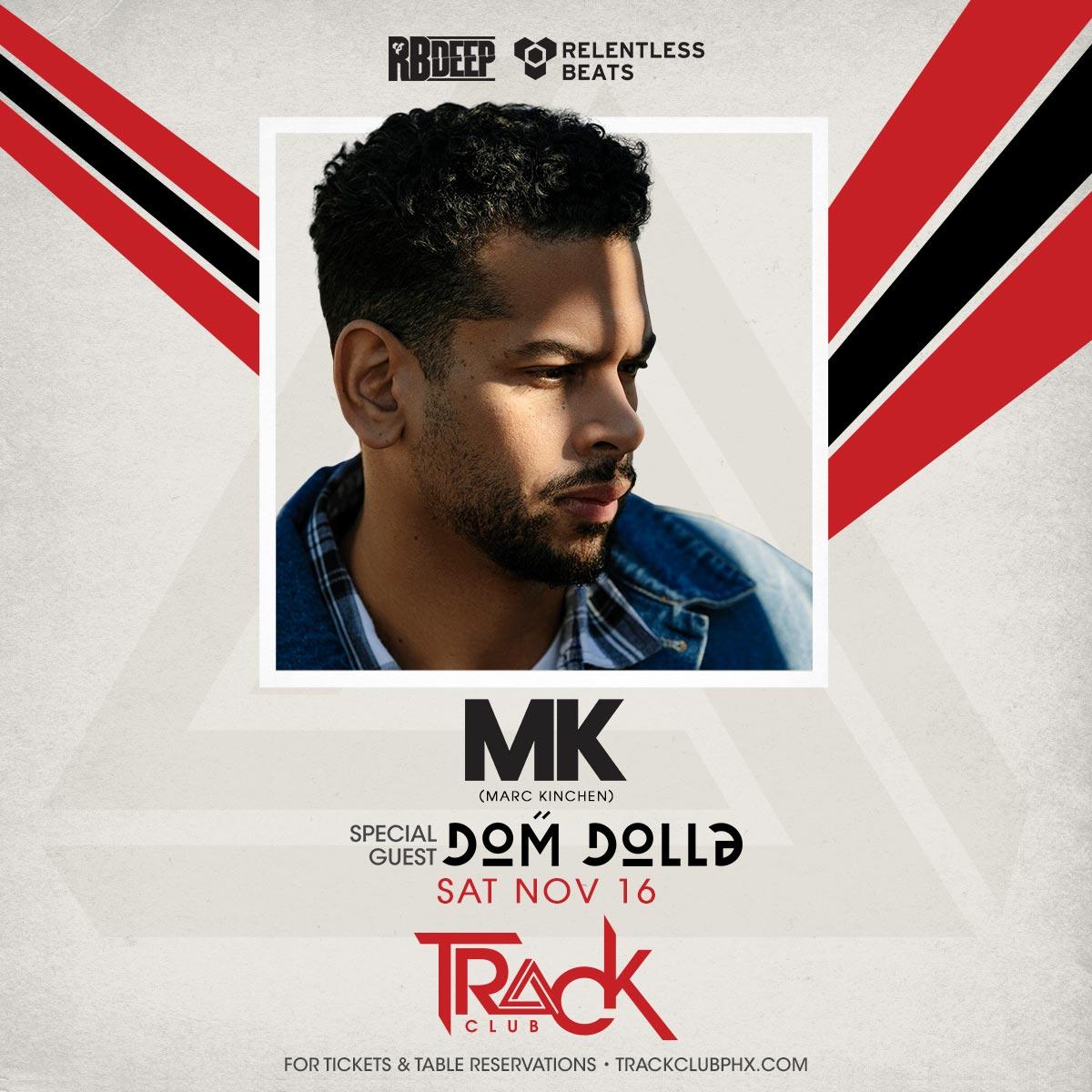 Flyer for MK + Dom Dolla