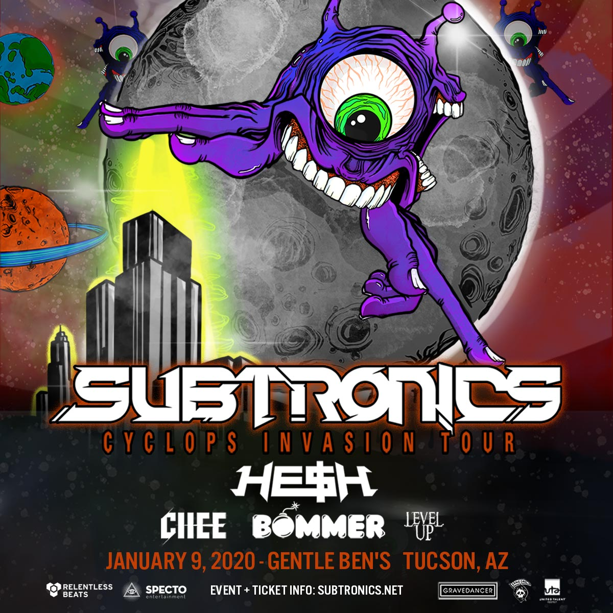 Flyer for Subtronics
