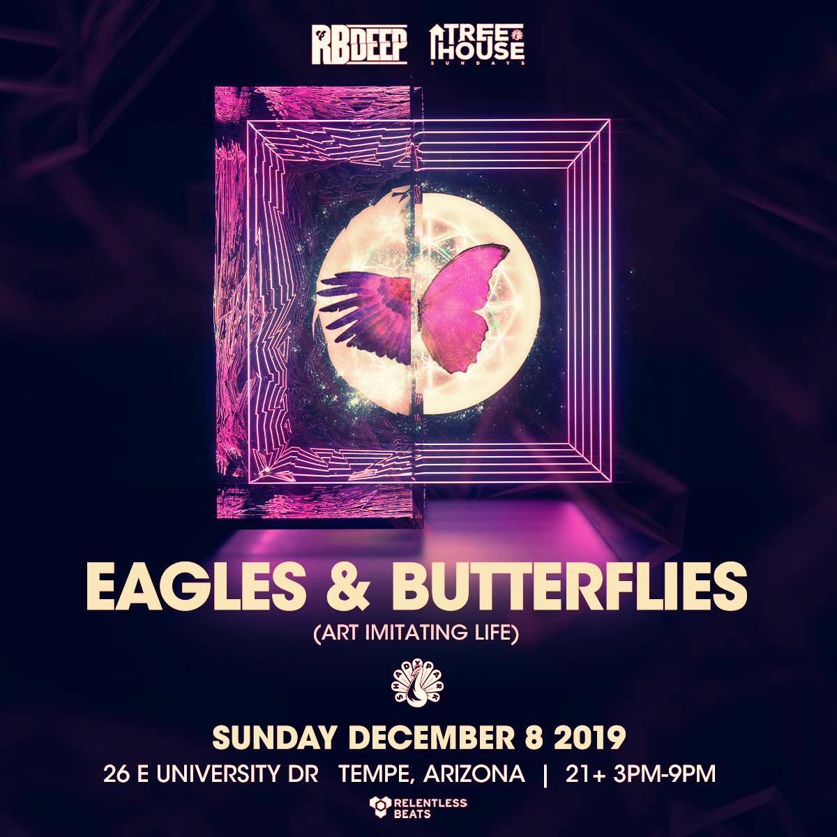 Flyer for Eagles & Butterflies