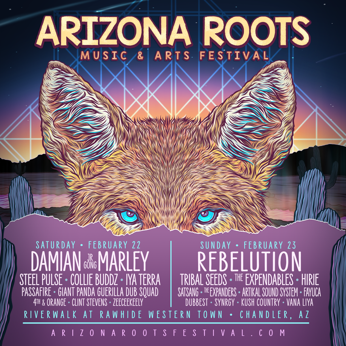 Flyer for Arizona Roots 2020