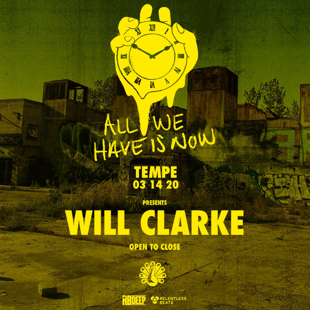 Flyer for Will Clarke
