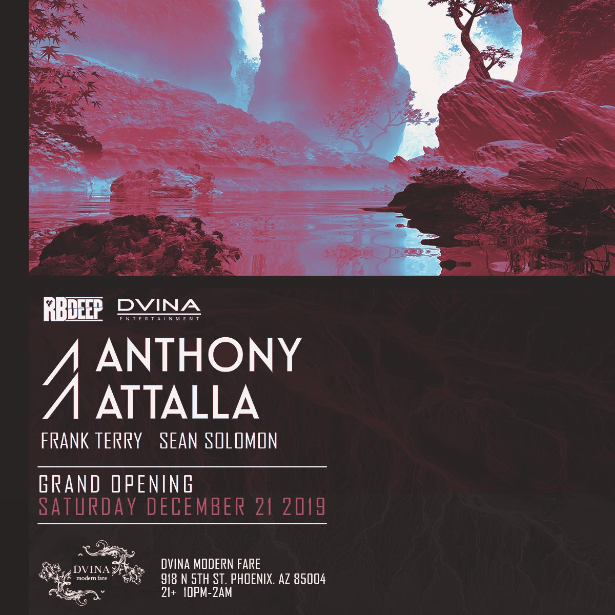 Flyer for Anthony Attalla - Grand Opening