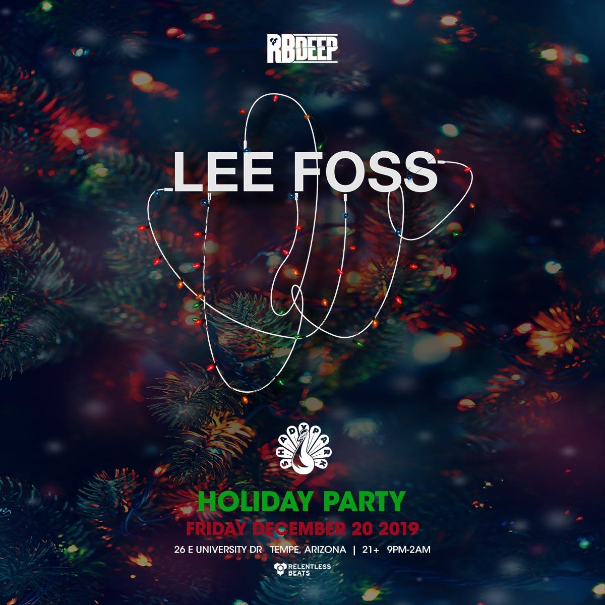 Flyer for Lee Foss