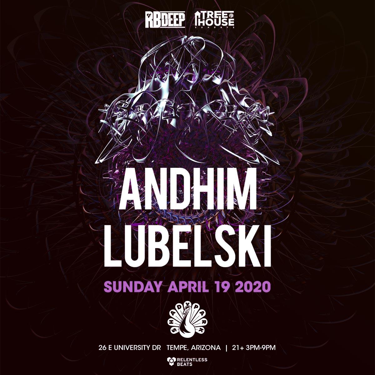 Flyer for Andhim + Lubelski