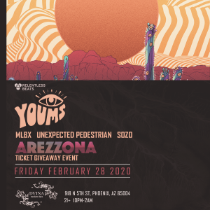 Youms - Arezzona Ticket Giveaway Event on 02/28/20