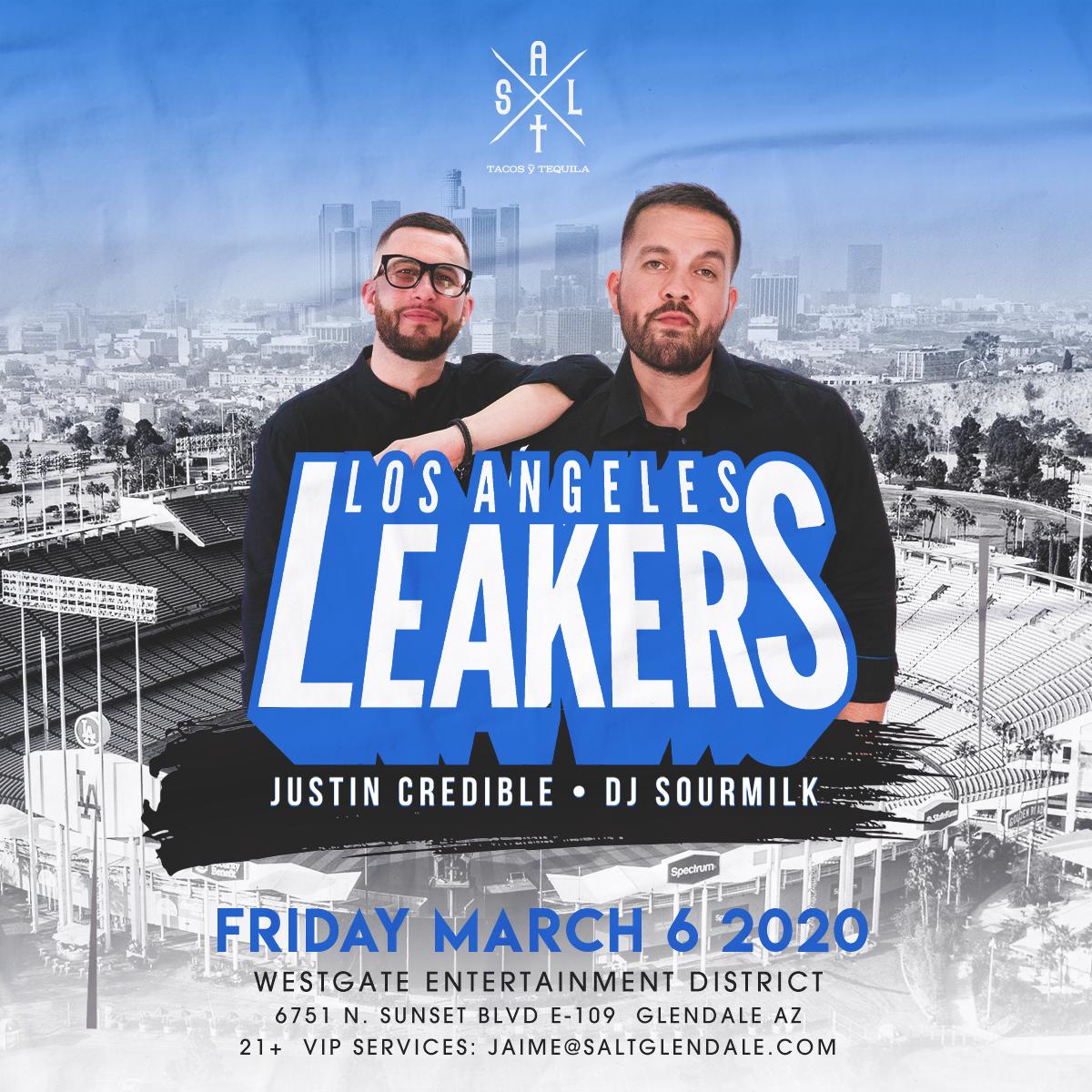 Flyer for LA Leakers