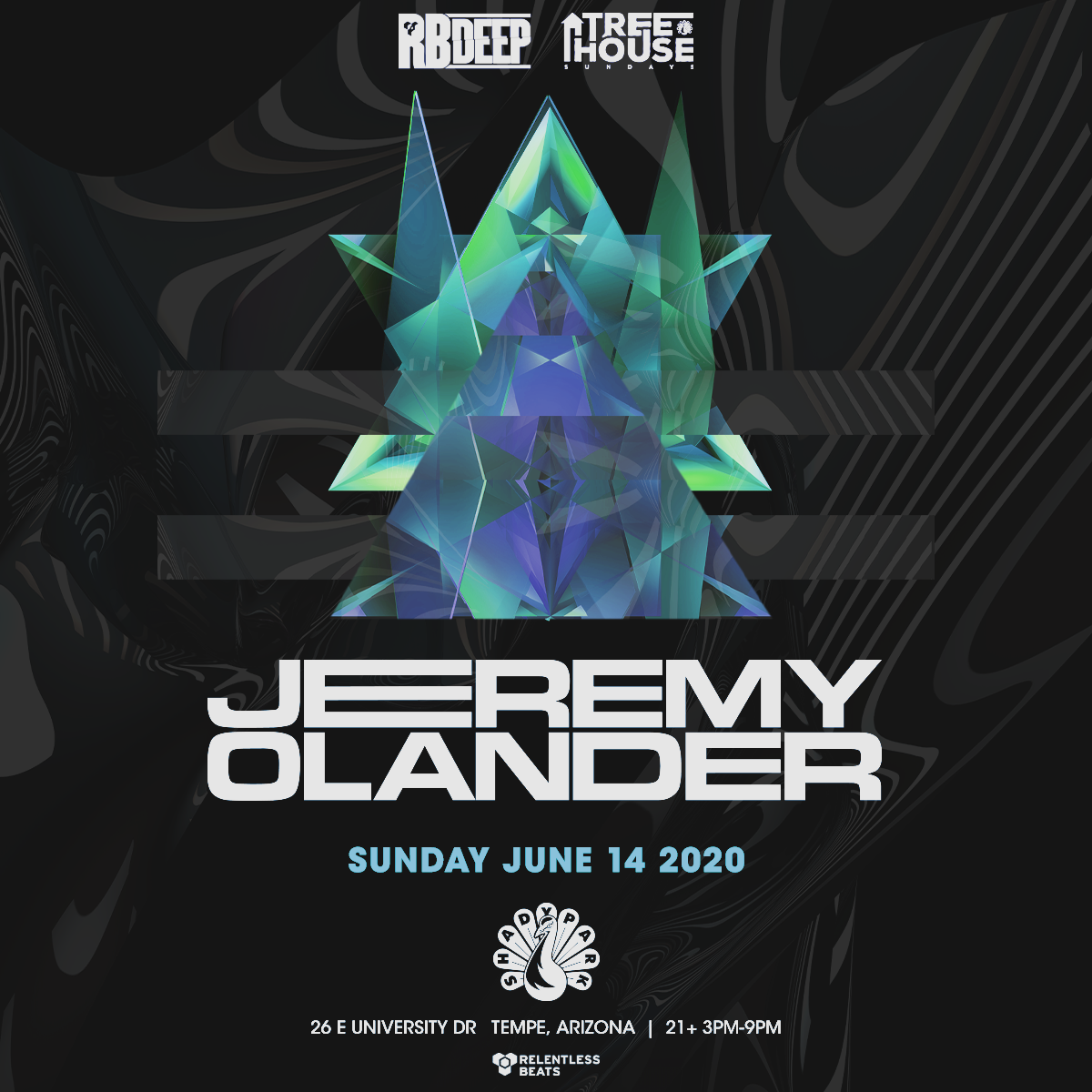 Flyer for Jeremy Olander