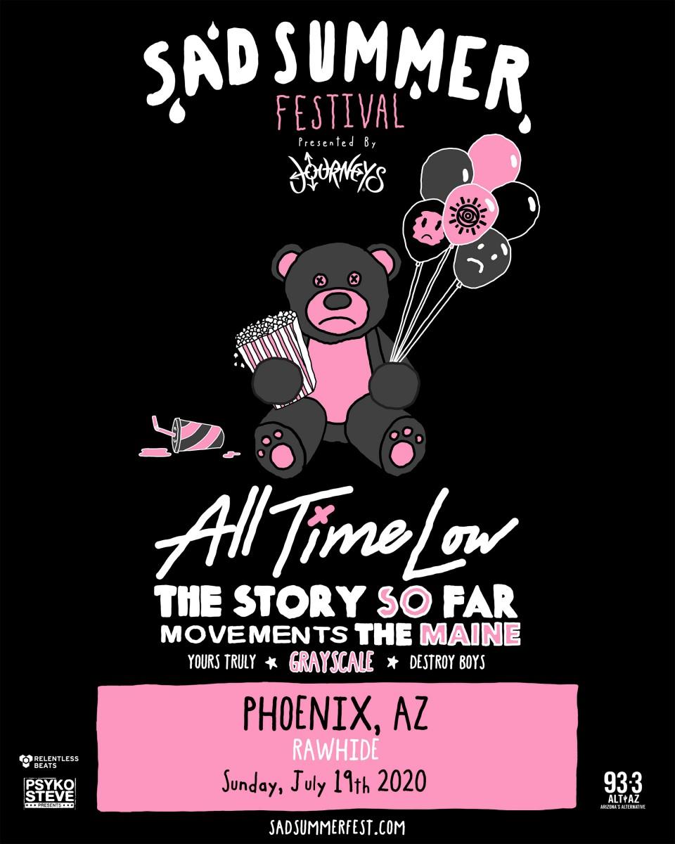 Flyer for Sad Summer Festival