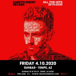 Postponed - Gareth Emery on 04/10/20