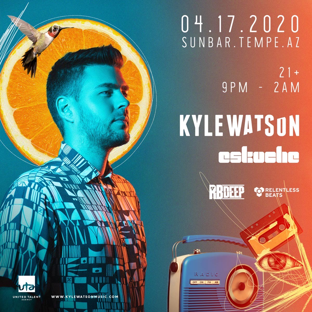 Flyer for Postponed - Kyle Watson