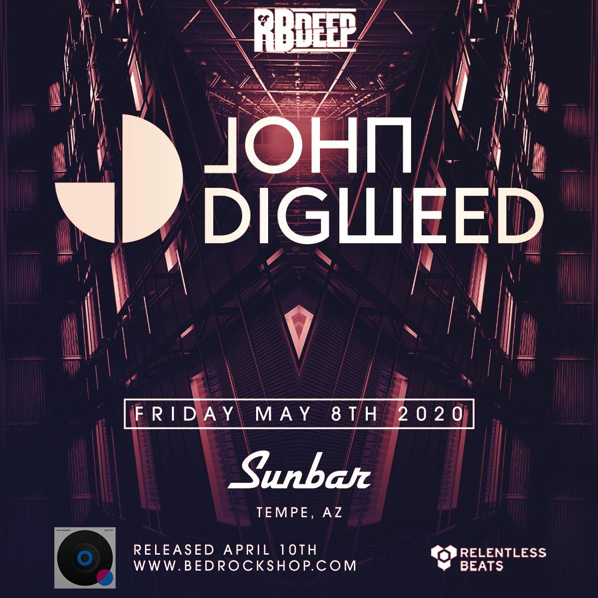 Flyer for Postponed - John Digweed