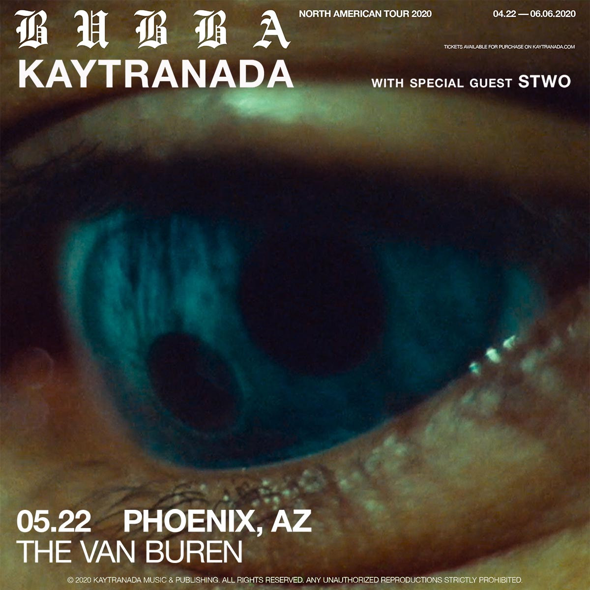 Flyer for Kaytranada