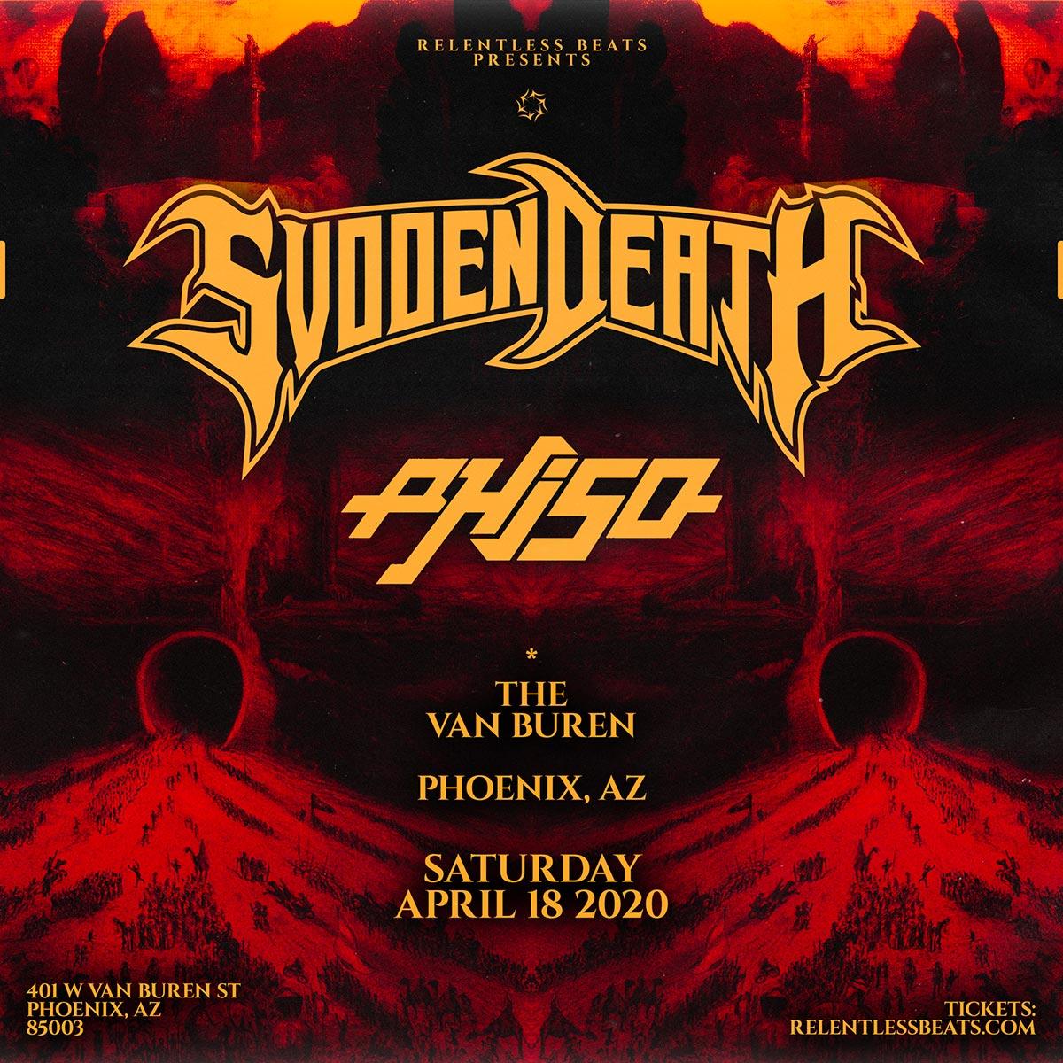 Flyer for Postponed - Svdden Death + Phiso