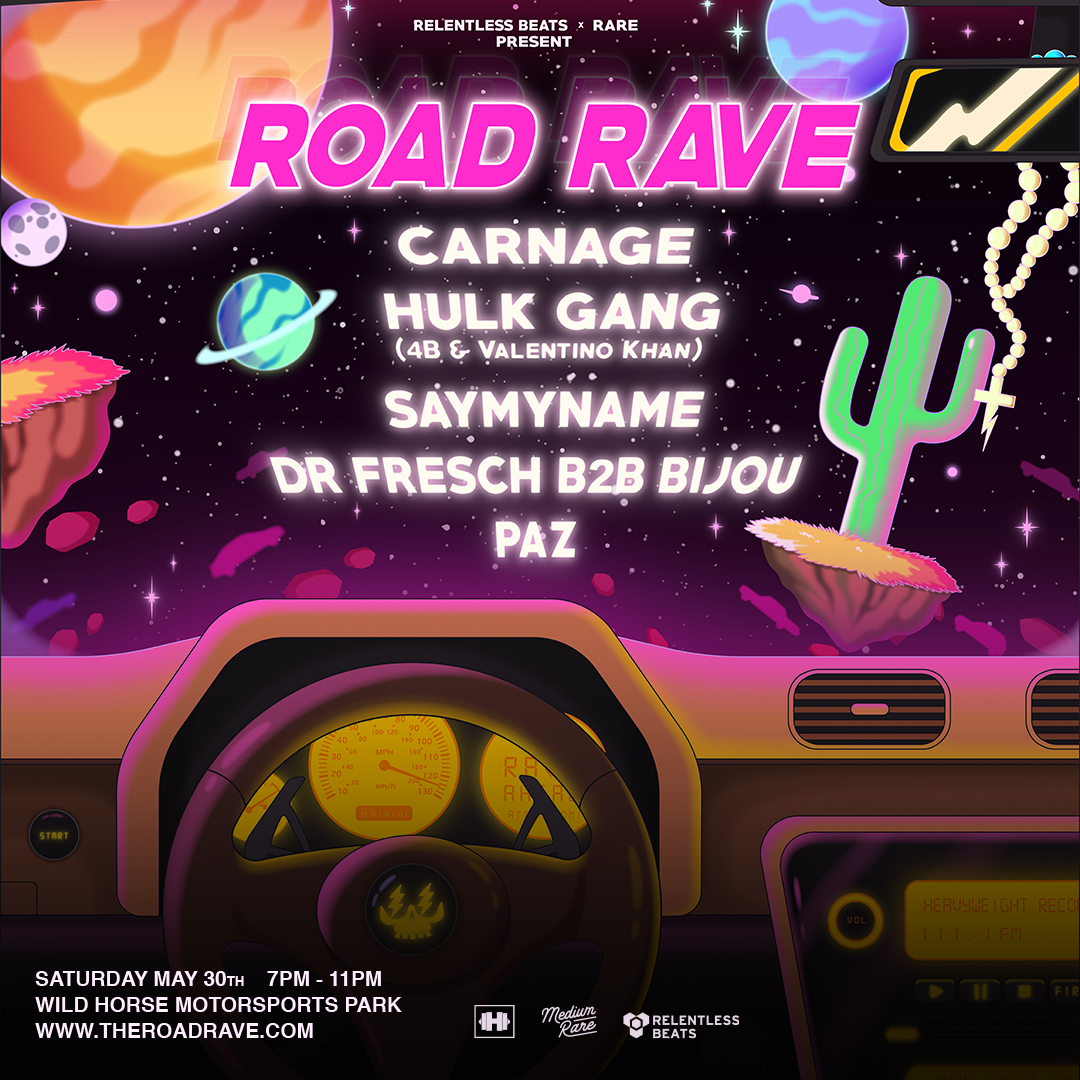 Flyer for Road Rave - Saturday