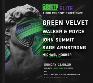 Green Velvet - RBDeep Elite: A Pod Concert Experience on 11/08/20