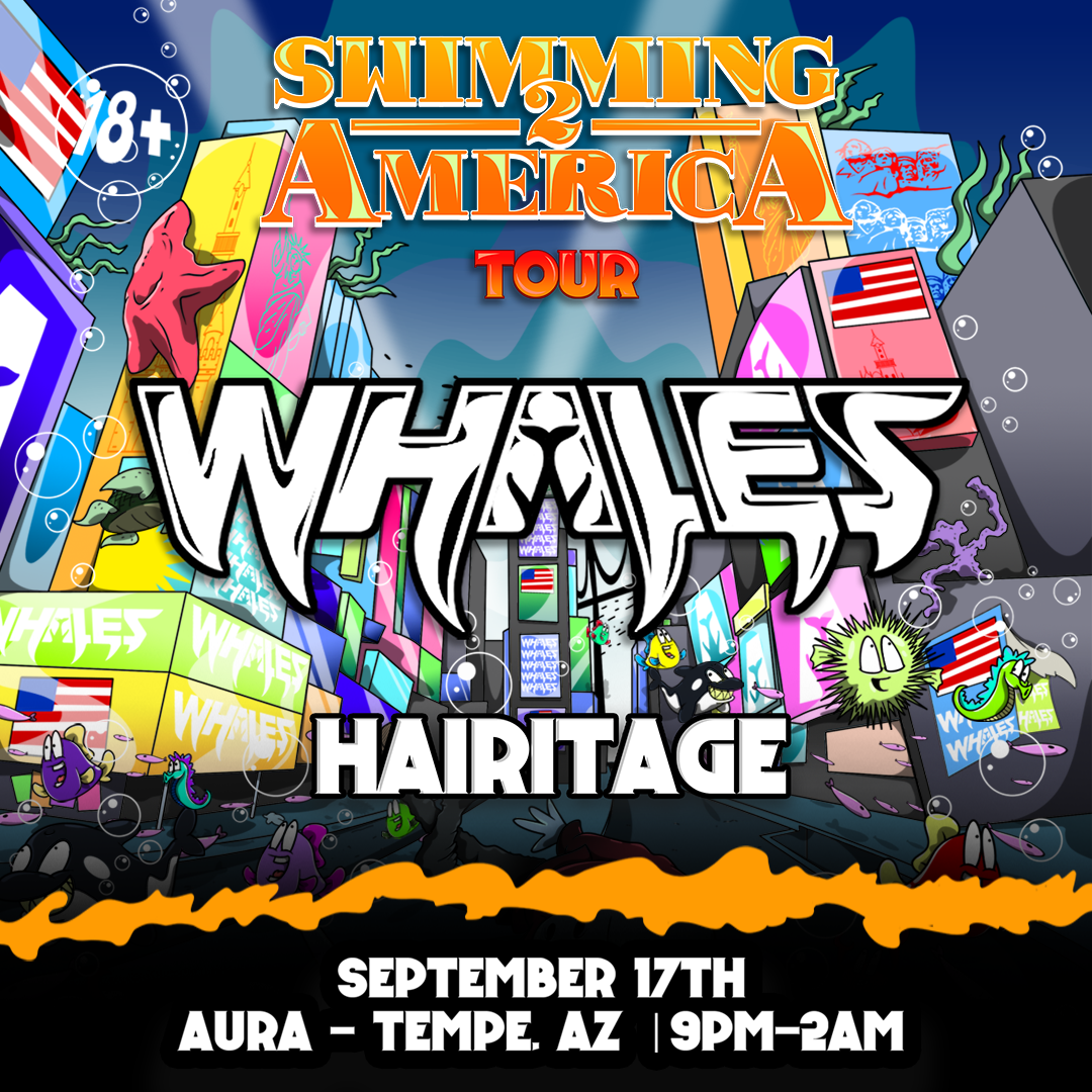 Flyer for Whales + Hairitage