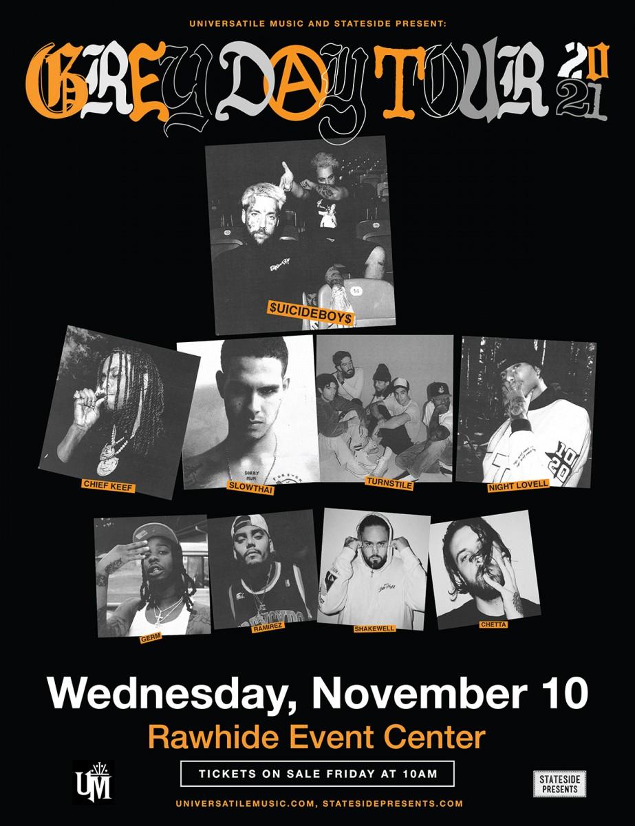 Flyer for $uicideboy$ - Greyday Tour