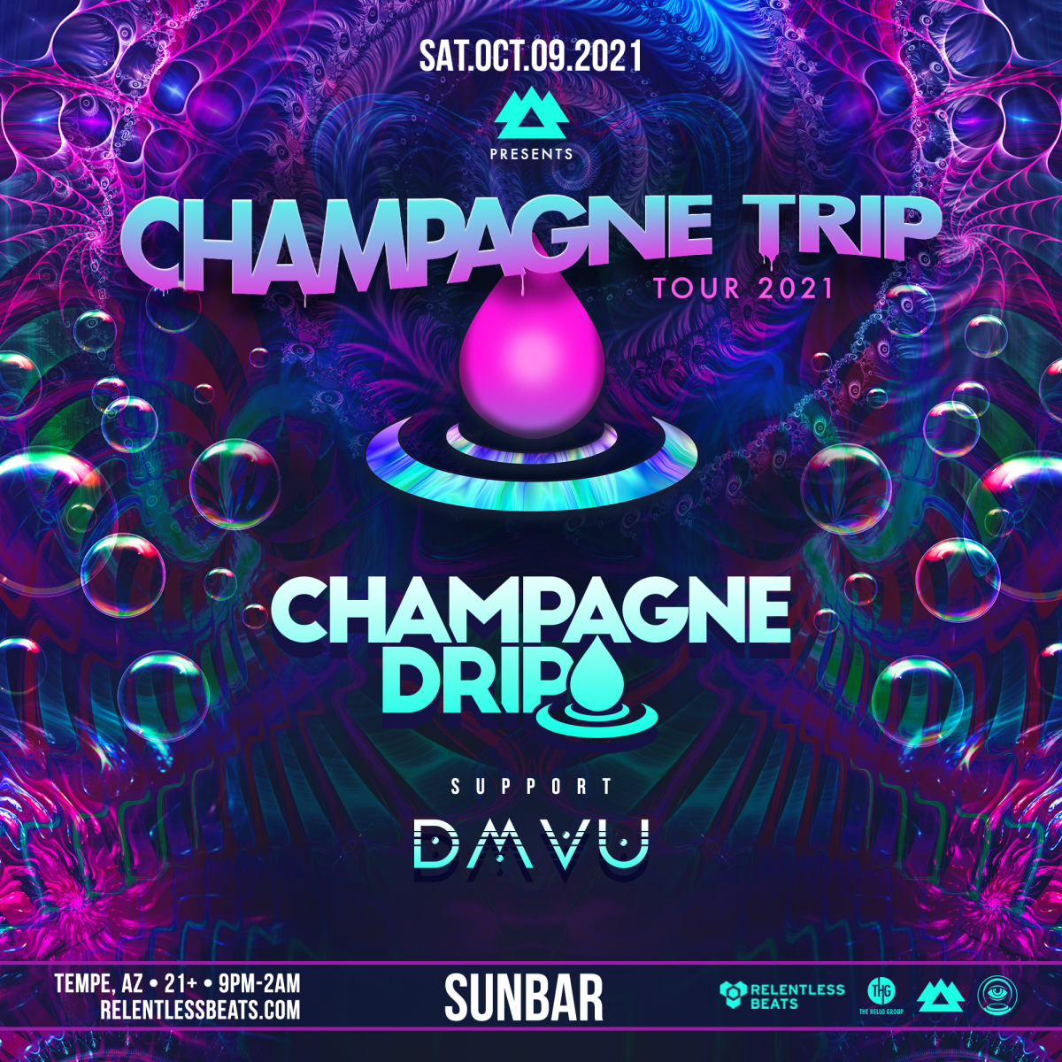 Flyer for Champagne Drip