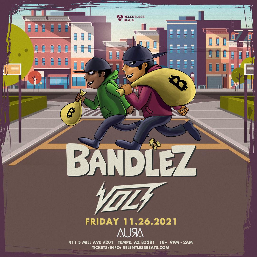 Flyer for Bandlez + Volt