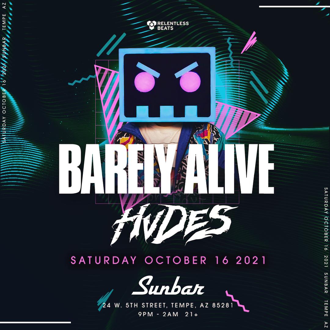 Flyer for Barely Alive + Hvdes