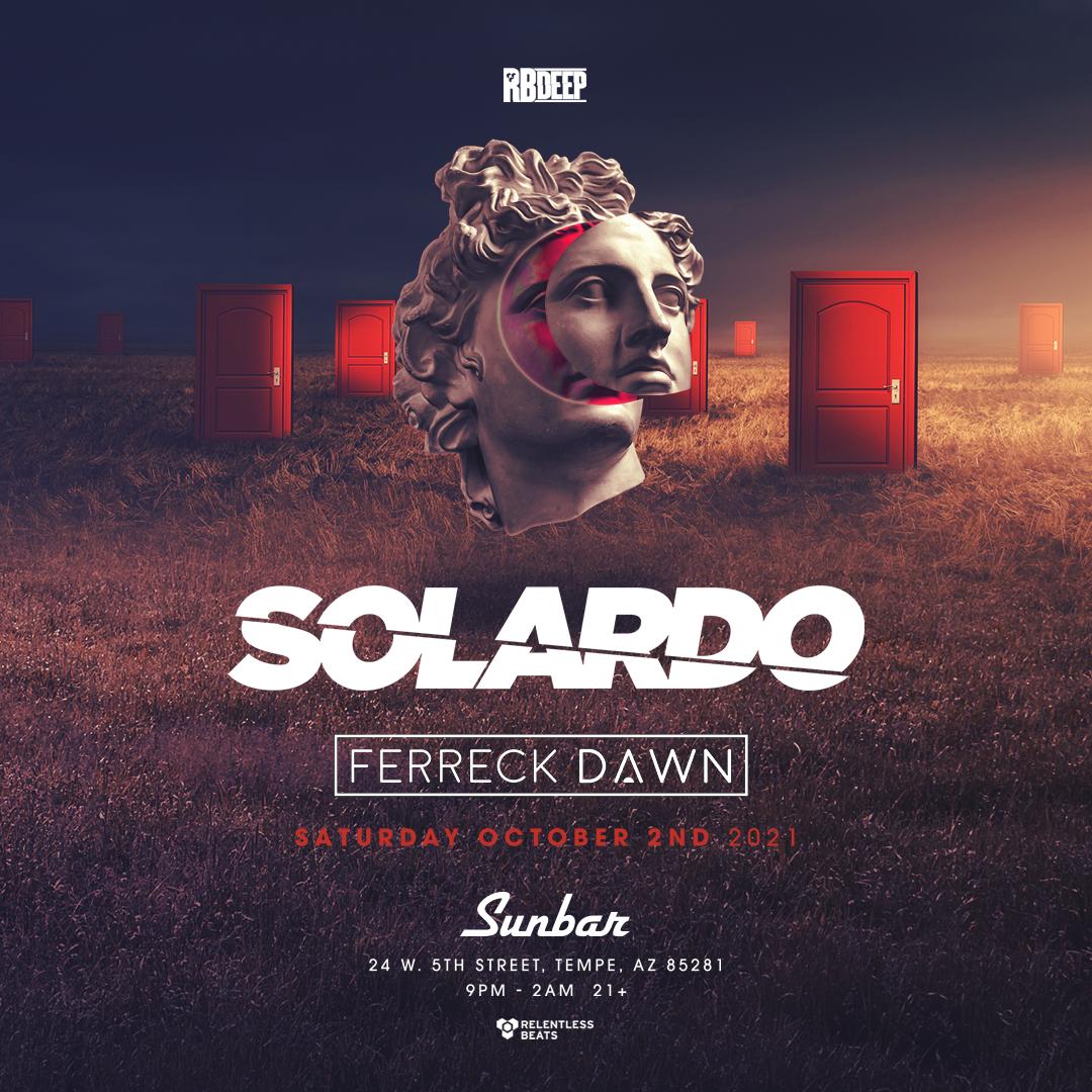 Flyer for Solardo + Ferreck Dawn