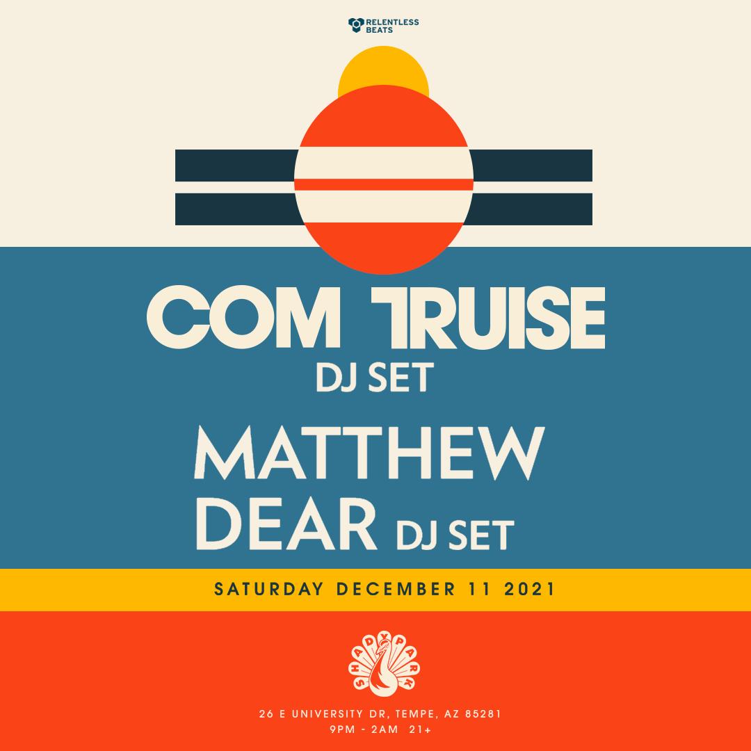 Flyer for Com Truise + Matthew Dear